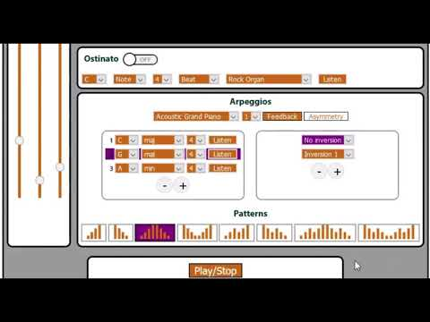 Reel Ear Arpeggio Web App Overview
